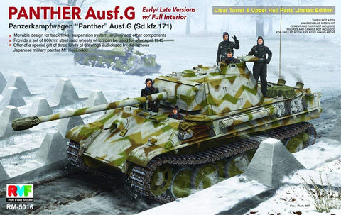 Rye Field 1/35 Panther Ausf.G w/Full Interior Limited Edition Kit