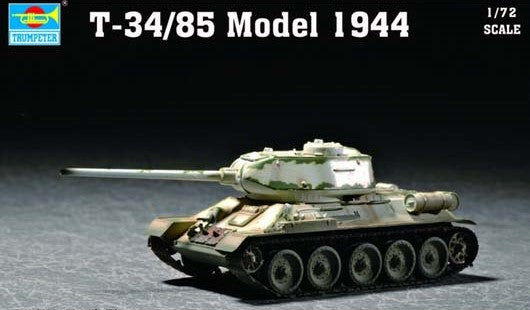 Trumpeter Military Models 1/72 Soviet T34/85 Mod 1944 Army Tank Kit