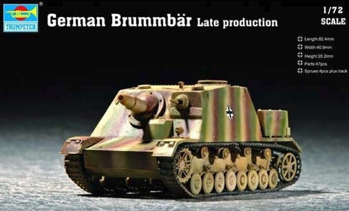 Trumpeter Military Models 1/72 German Brummbar Late Production Tank Kit