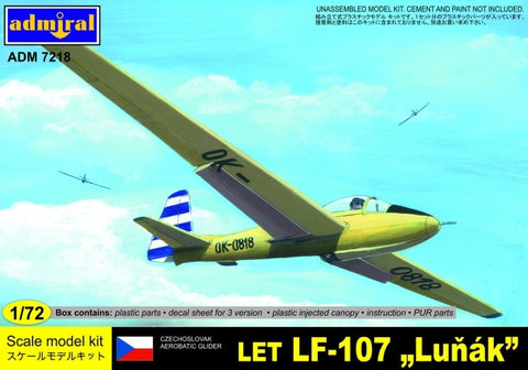 Admiral Models Aircraft 1/72 LET LF107 Lunak Glider Aircraft Kit