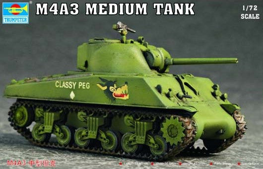 Trumpeter Military Models 1/72 US M4A3 Tank Kit