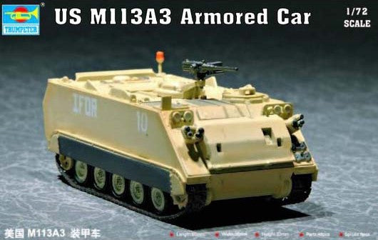 Trumpeter Military Models 1/72 US M113A3 Armored Personnel Carrier Kit