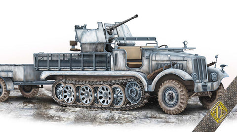 Ace Military 1/72 SdKfz 6/2 Halftrack w/3.7cm Flak 36 on Chassis mZgKw 5t Kit
