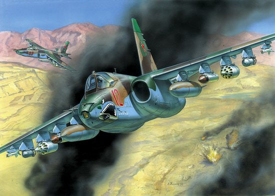 Zvezda Aircraft 1/72 Soviet Su25 Frogfoot Attack Aircraft Kit