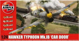 Airfix Aircraft 1/24 Hawker Typhoon Mk Ib Car Door Fighter Kit