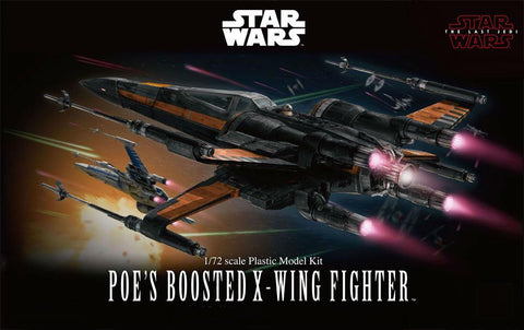 Bandai 1/72 Star Wars The Last Jedi: Poe's Boosted X-Wing Kit