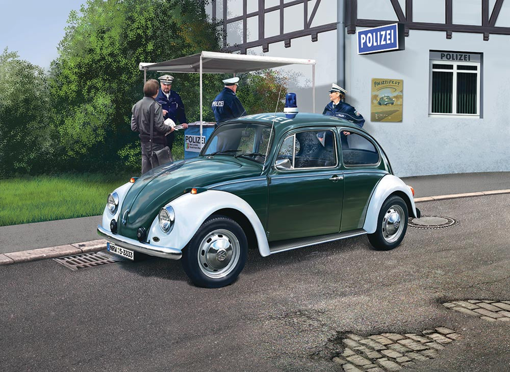 Revell Germany Cars 1/24 VW Beetle Police Car Kit