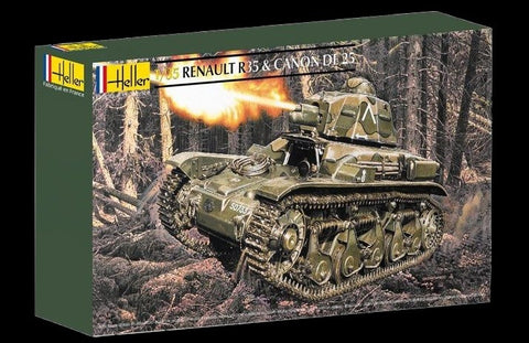 Heller Military 1/35 Renault R35 Tank w/25mm Gun Kit