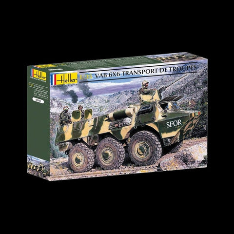 Heller Military 1/35 VAB 6x6 Troop Transporter Vehicle Kit