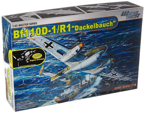 Cyber-Hobby Aircraft 1/48 Messerschmitt Bf110D1/R1 Dackelbauch Fighter Bomber Kit