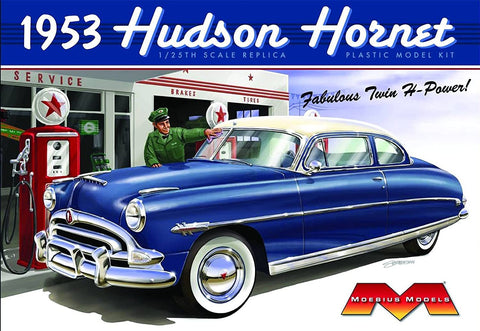 Moebius Model Cars 1/25 1953 Hudson Hornet Car (Re-Issue) Kit