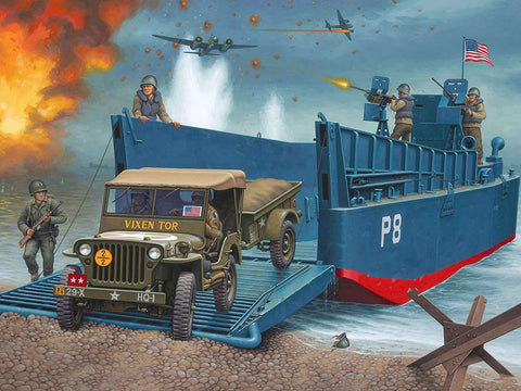 Revell Germany 1/35 D-Day June 6 1944 - LCM3 Landing Craft with 4x4 Off Road Vehicle Model Set