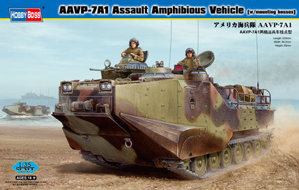 Hobby Boss Military 1/35 AAVP-7A1 ASSAULT AMPHIB VEH KIT