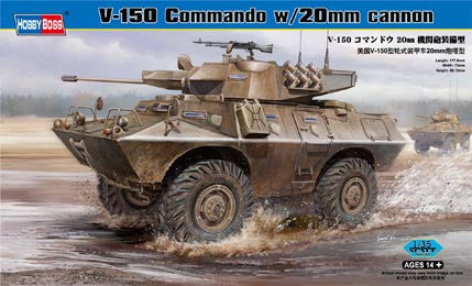 Hobby Boss Military 1/35 V-150 Commando w/20MM Kit