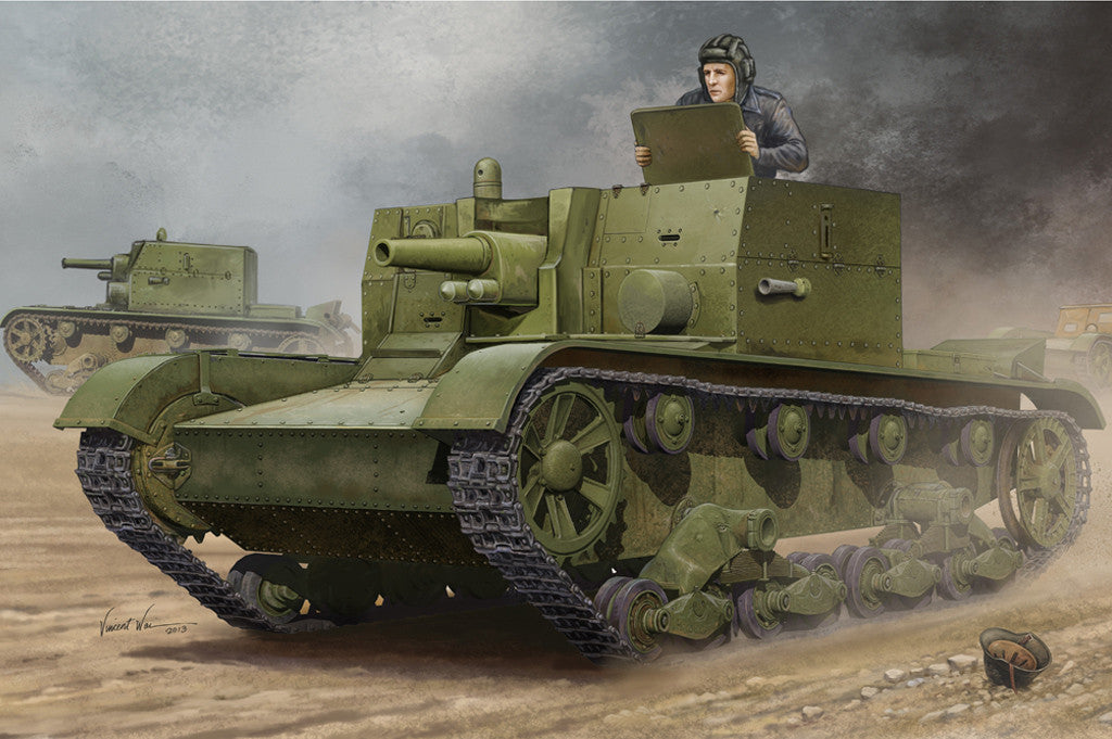 Hobby Boss Military 1/35 Soviet AT-1 Self-Propelled Kit
