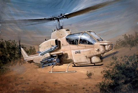Italeri Aircraft 1/48 Bell AH1W Super Cobra Helicopter Kit