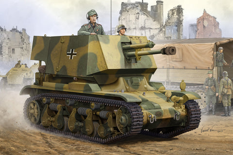 Hobby Boss Military 1/35 4.7cm PAK T SFL.AUF.FGST Kit