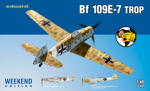 Eduard Aircraft 1/48 Bf109E7 Trop Fighter (Wkd Edition Plastic Kit)