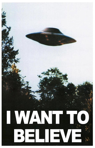 "Atlantis Models UFO from I Want to Believe Photo X-Files TV Series 5"" Dia"