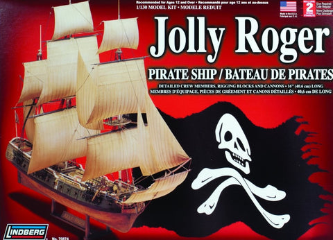 Lindberg Model Ships 1/130 Jolly Roger Pirate Ship Kit