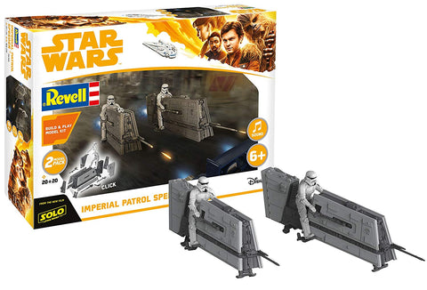 Revell-Monogram Sci-Fi Star Wars Solo A Star Wars Story: Imperial Patrol Speeder (2) w/Sound (Build & Play Snap) Kit