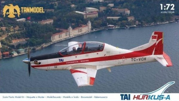 Tanmodel Aircraft 1/72 Tai Hurkus-A 2-Seater Low-Wing Experimental Turboprop Aircraft Kit