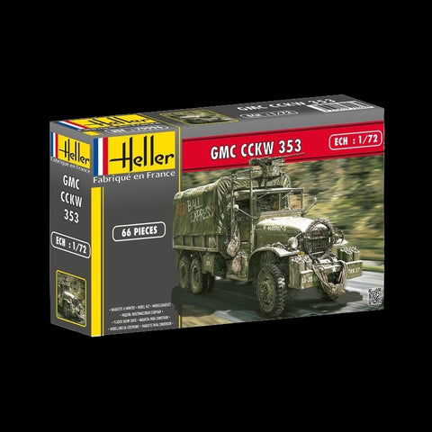 Heller Military 1/72 GMC CCKW 353 Military Truck w/Canvas-Type Cover Kit