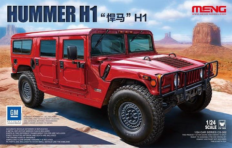 Meng Car Models 1/24 Hummer H1 Kit