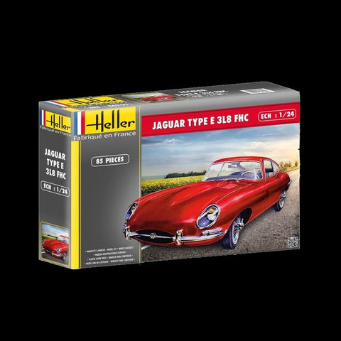 Heller Model Cars 1/24 Jaguar Type E 3L8 FHC Sports Car Kit