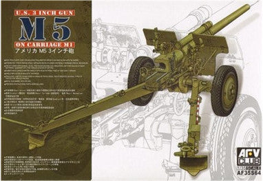 AFV Club Military 1/35 US 3 Inch M5 Gun on M1 Carriage Kit