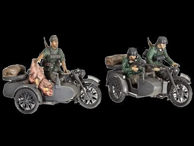 Revell Germany Military 1/35 German R12 Motorcycle w/Sidecar Kit