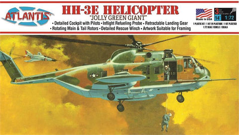 Atlantis Model Aircraft 1/72 HH3E Jolly Green Giant US Army Vietnam Helicopter (formerly Aurora) Kit