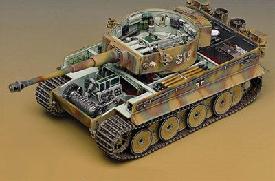 Academy Military 1/35 WWII Tiger I Tank w/Interior Kit