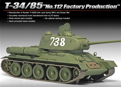 Academy Military 1/35 T34/85 No.112 Factory Production Tank Kit
