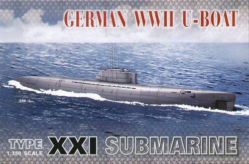 AFV Club Ships 1/350 WWII German U-Boat Type XXI Submarine Kit