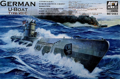 AFV Club Ships 1/350 German U-Boat Type VII C Submarine Kit