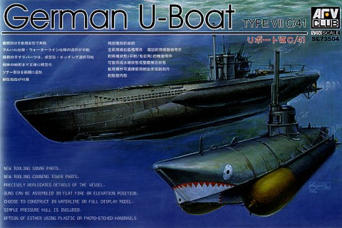 AFV Club Ships 1/350 German U-Boat Type VII C41 Submarine Kit