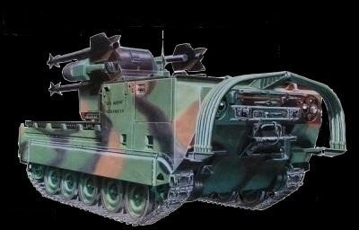 AFV Club Military 1/35 M730A1 Chaparral Tank Kit