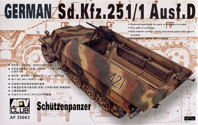 AFV Club Military 1/35 German Schutzenpanzer SdKfz 251/1 Ausf D Halftrack Kit