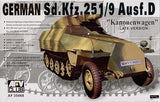 AFV Club Military 1/35 German SdKfz 251/9 Ausf D Kanonenwagen Late Version w/75mm Gun Kit