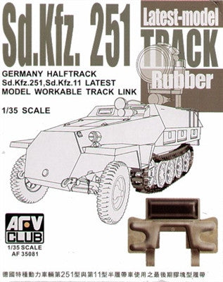AFV Club Military 1/35 SdKfz 251 Late Workable Rubber Track Links Kit