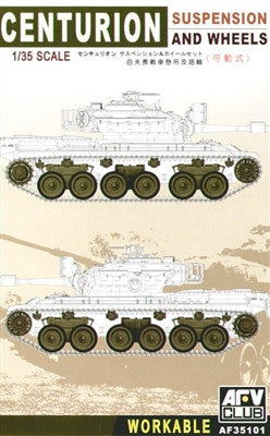 AFV Club Military 1/35 Centurion Workable Suspension & Wheels Set Kit