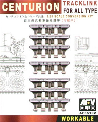 AFV Club Military 1/35 Centurion Workable Track Links for all Types Kit
