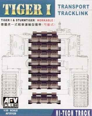 AFV Club Military 1/35 Tiger I & Sturmtiger Workable Transport Track Links Kit