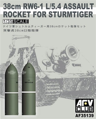 AFV Club Military 1/35 38cm RW6-1 L/5.4 Assault Rocket for Sturmtiger Kit
