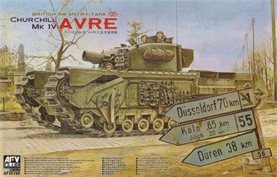 AFV Club Military 1/35 British Churchill Mk IV AVRE Infantry Tank Kit
