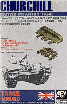 AFV Club Military 1/35 British Churchill Hvy Cast Steel Type Box Section Spudded BTS3 Workable Track Links Kit