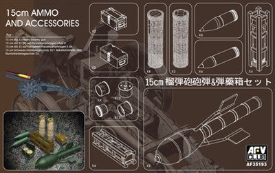AFV Club Military 1/35 15cm Ammo & Accessories Kit