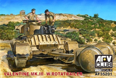 AFV Club Military 1/35 British Mk III Valentine Tank w/Rotatrailer Kit