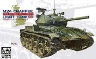 AFV Club Military 1/35 WWII M24 Chaffee British Army Tank Kit